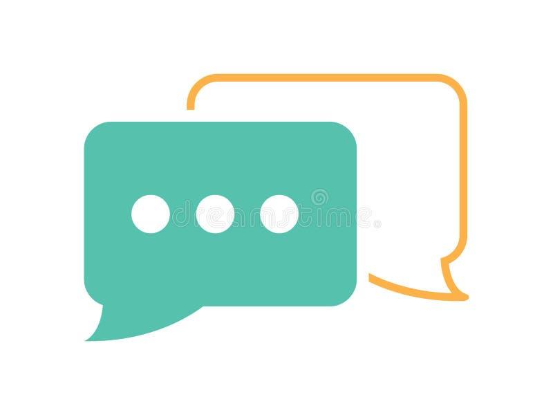 Vektoranförandepratstund bubblar symbolsrengöringsdukmeddelandet Kommunikationssymbol Talande företags meddelandedialog Samtaltec stock illustrationer