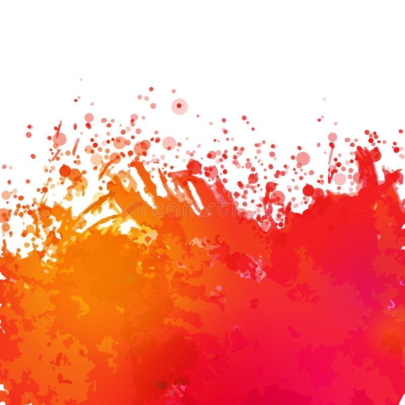 Vektoraquarell, das abstrakten Hintergrund zeichnet lizenzfreie abbildung
