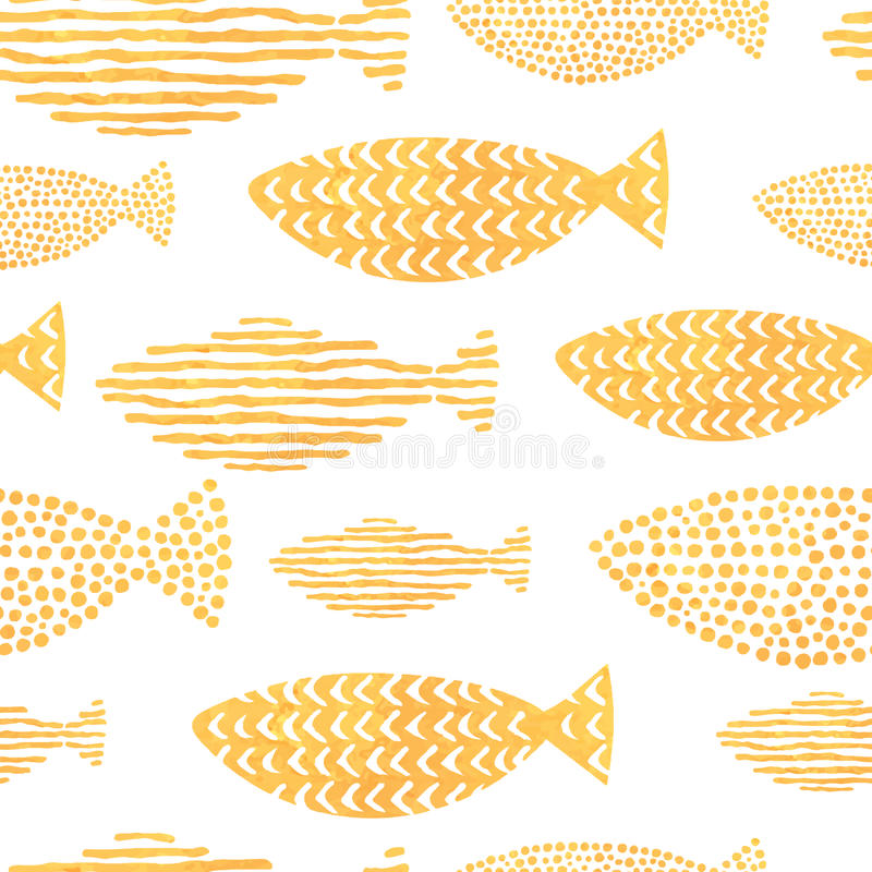 Vektoraquarellfische auf hellem Hintergrund stock abbildung