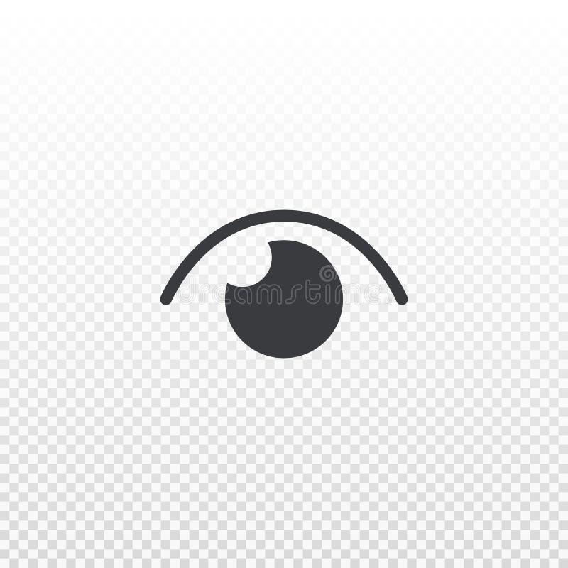 Vektoraugenikone lokalisiert auf transparentem Hintergrund Piktogrammzahl von Ansichten Element für Design-APP, Chat, Boten oder  lizenzfreie abbildung
