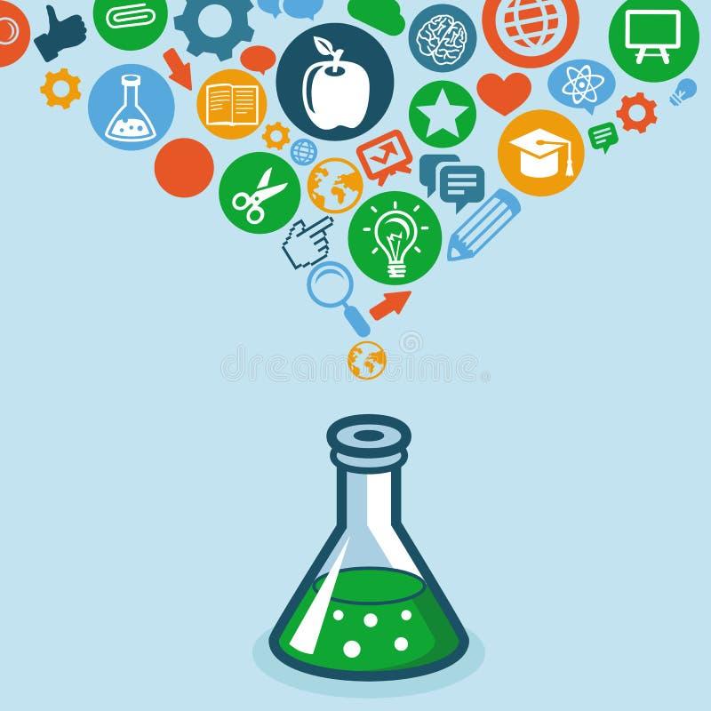 Vektorausbildung und Wissenschaftskonzept vektor abbildung