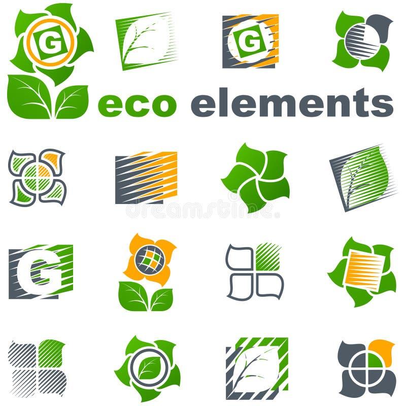 Vektorauslegungelemente. Eco Set. lizenzfreie abbildung