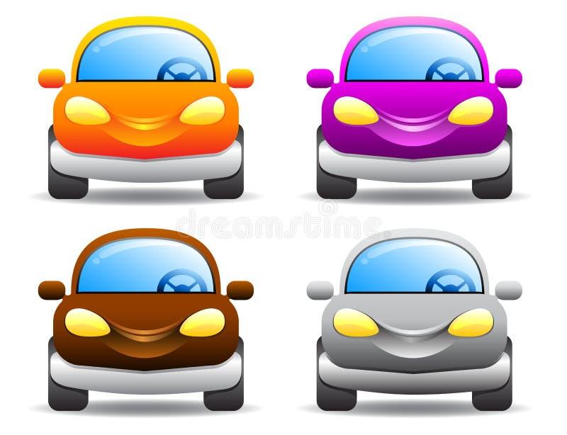 Vektorautos auf Weiß stockbilder