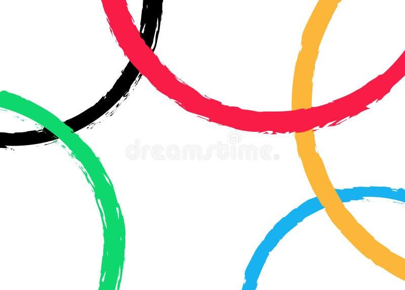 Vektorbakgrund av kulöra rundor, malldesign med färgrikt olympic cirkelbegrepp Vit vektorillustration som isoleras eller vektor illustrationer