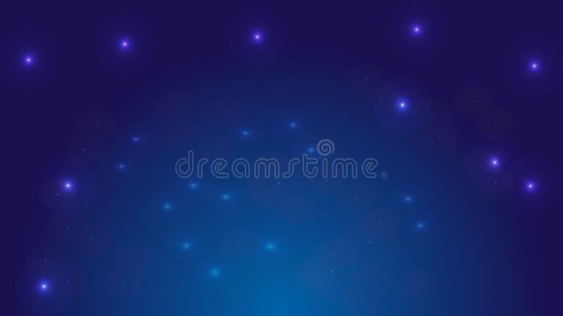 Vektorbakgrund av natthimmel royaltyfri illustrationer