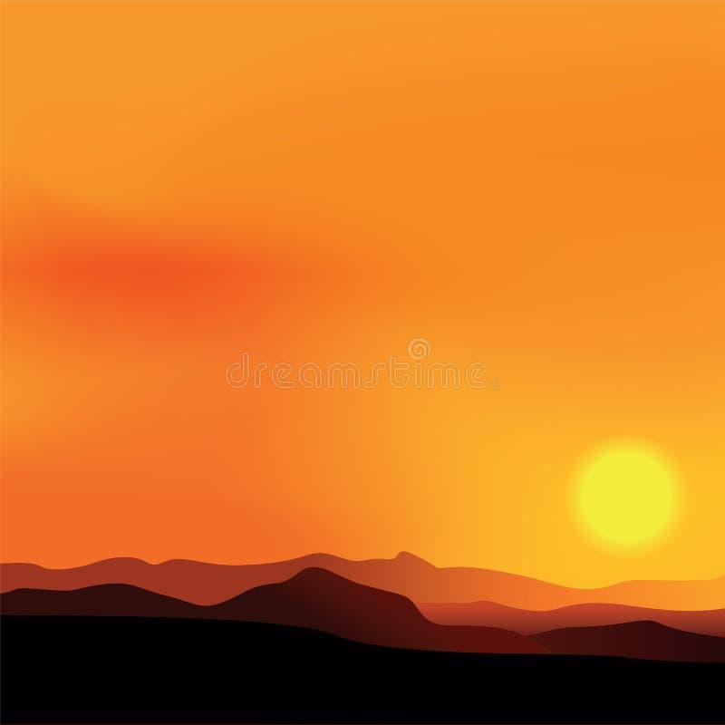 Vektorbakgrund med afrikanskt landskap stock illustrationer