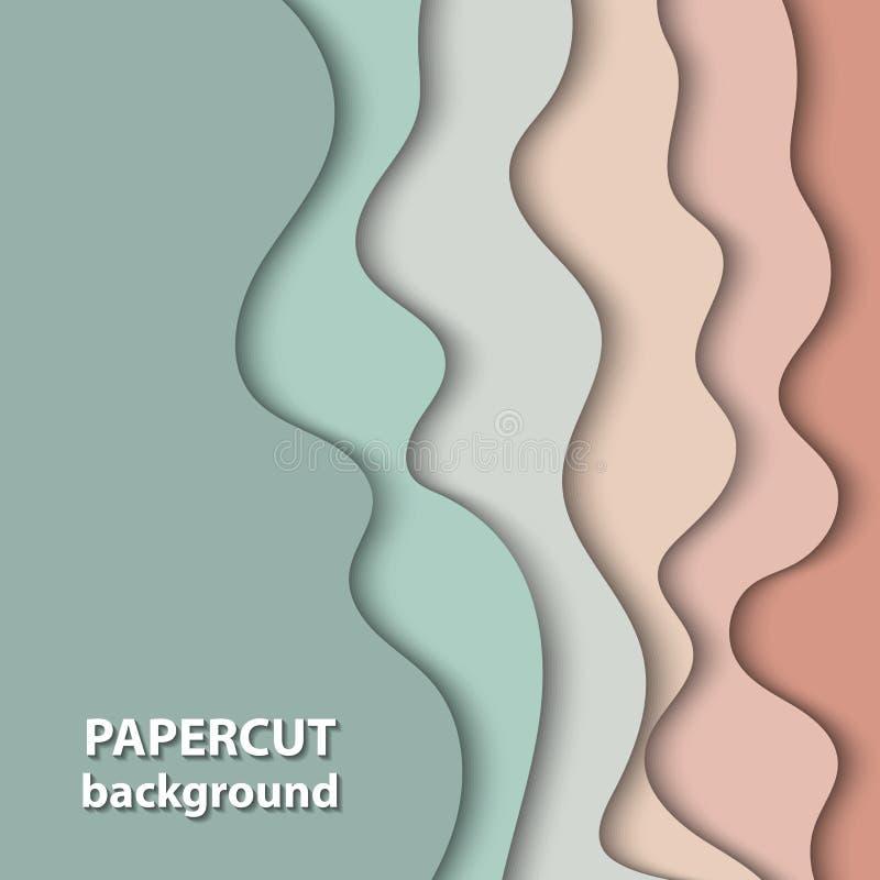 Vektorbakgrund med pastellfärgad nakenstudie, beiga och ljus - grön färg vektor illustrationer