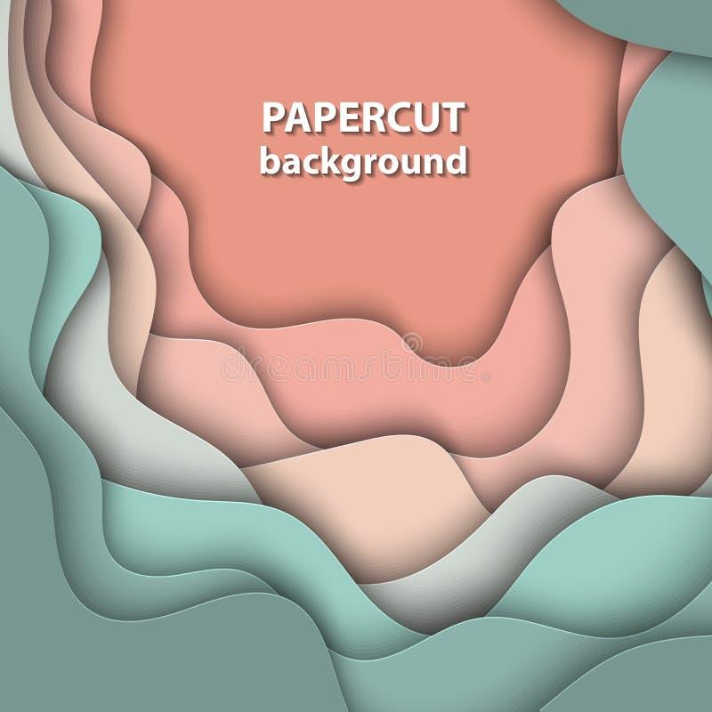 Vektorbakgrund med pastellfärgad nakenstudie, beiga och ljus - grön färg royaltyfri illustrationer