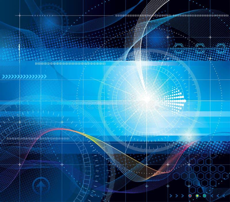 Vektorbakgrunder - teknologier, internet, dator royaltyfri illustrationer