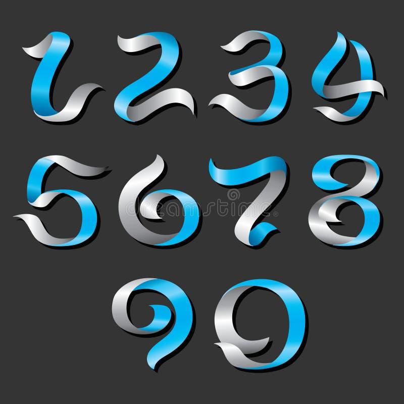 Vektorband Nr. 0 bis 9 lizenzfreie abbildung
