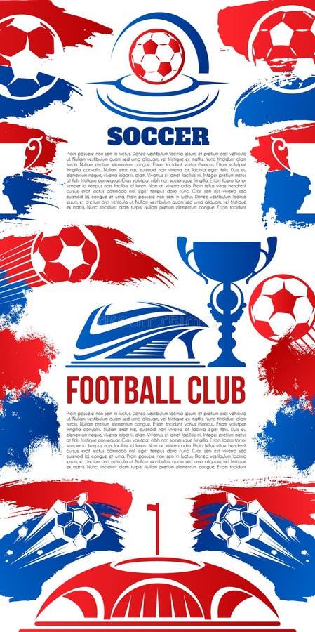 Vektorbaner för klubba för fotbollhögskolaliga royaltyfri illustrationer