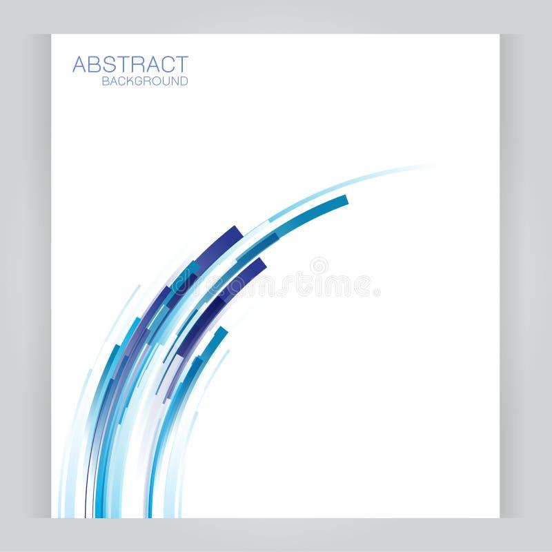 Vektorbaner gör sammandrag titelrader med blåa röda ändtarmar vektor illustrationer
