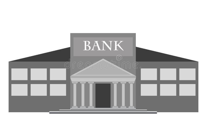 Vektorbankbyggnad royaltyfri illustrationer