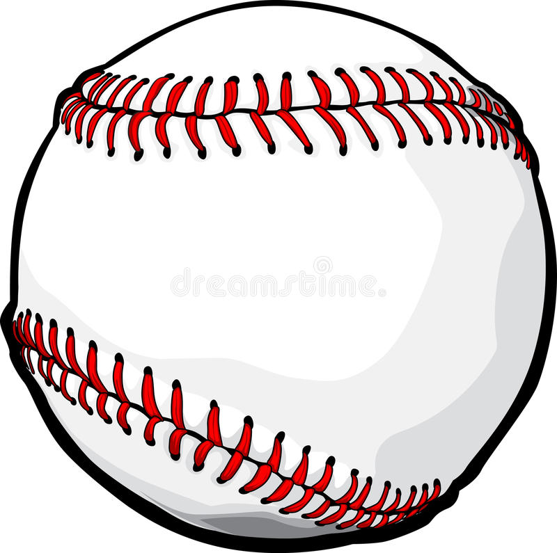 Vektorbaseball-Kugel-Bild lizenzfreie abbildung