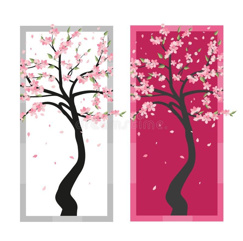 Vektorbaum Kirschblüte stock abbildung