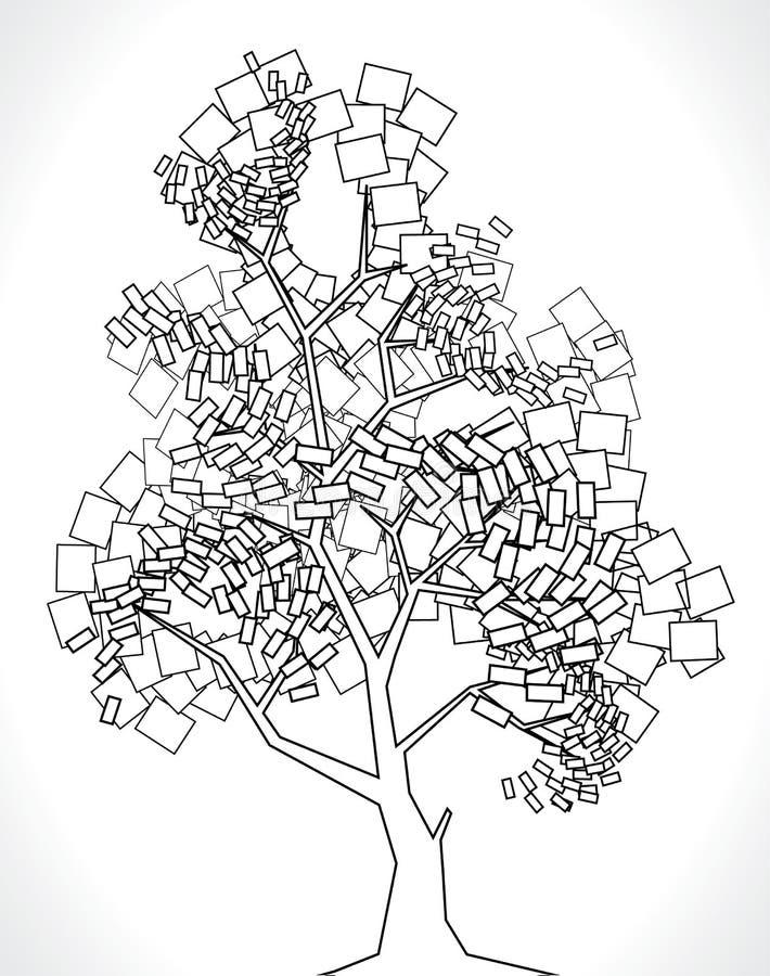 Vektorbaum von den Quadraten lizenzfreies stockfoto