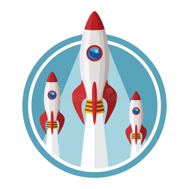 Vektorbegreppet av startar upp nytt affärsprojekt royaltyfri illustrationer