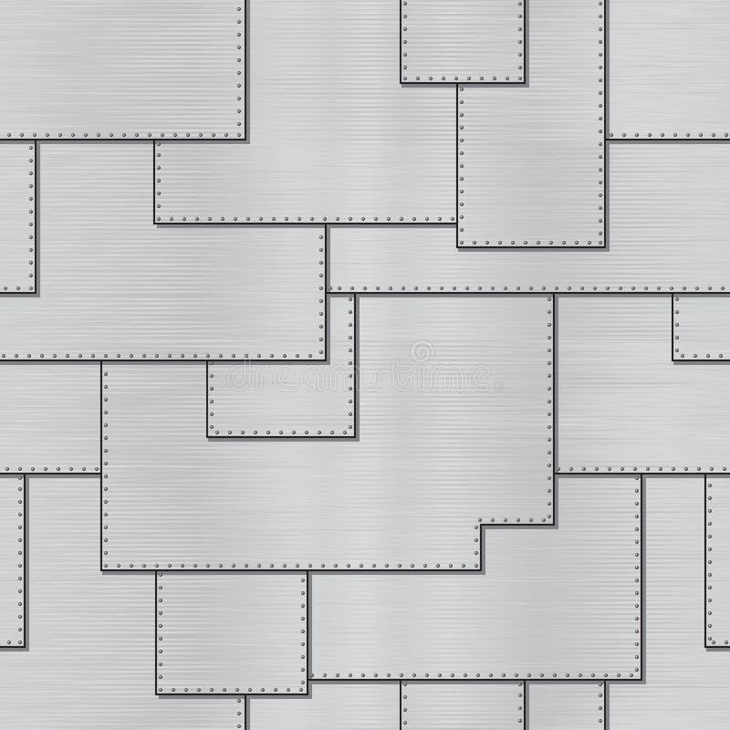 Vektorbeschaffenheit - Stahlbleche mit Nieten lizenzfreie abbildung