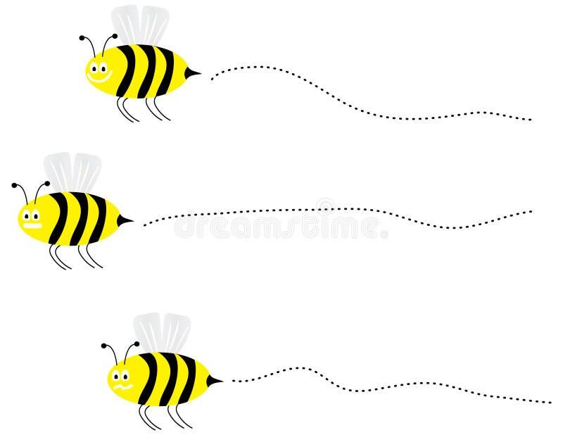 Vektorbesetzte Bienen lizenzfreie abbildung