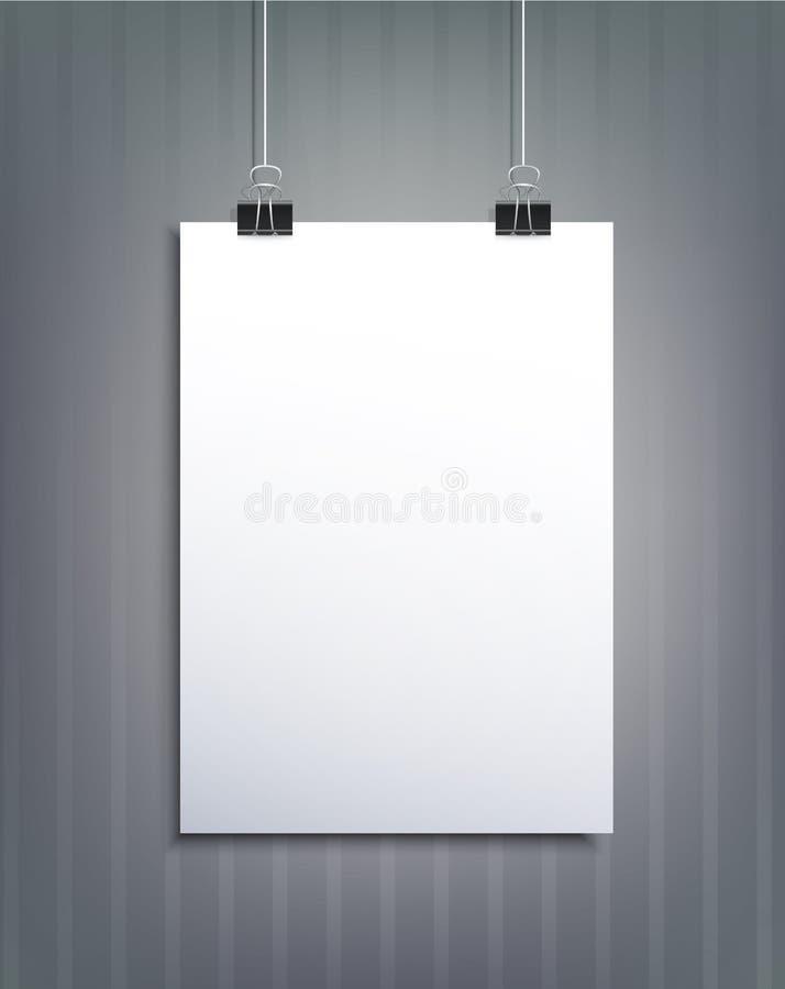 Vektorbeståndsdel för design med ett stycke av papper stock illustrationer