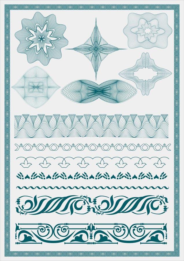 Vektorbeståndsdel för valuta vektor illustrationer