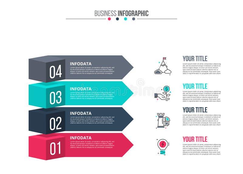 Vektorbeståndsdelar för infographic vektor illustrationer