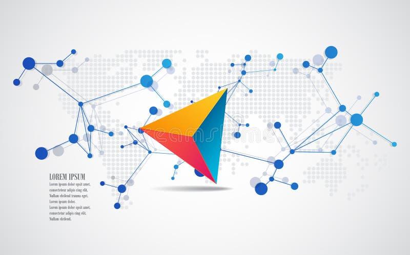Vektorbeståndsdelar för infographic Designbanermall royaltyfri illustrationer