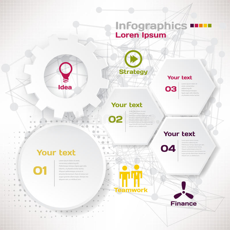 Vektorbeståndsdelar för infographic Mall för affärsidé royaltyfri illustrationer