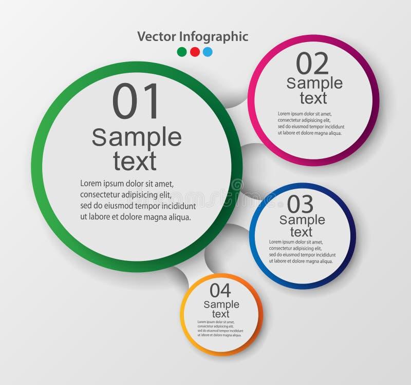 Vektorbeståndsdelar för infographic Mall för diagram, graf, presentation och diagram stock illustrationer