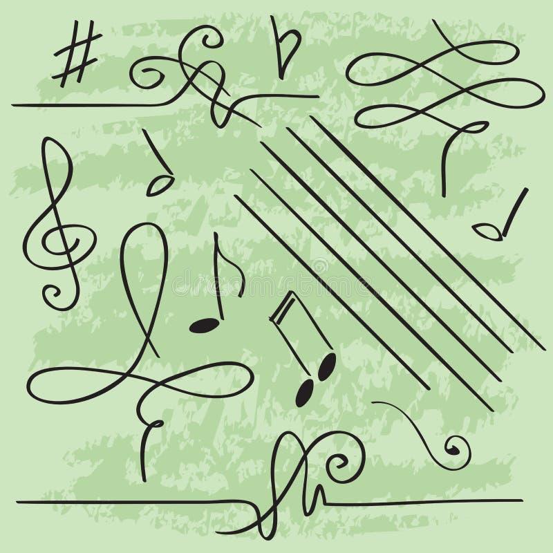 Vektorbeståndsdelar för musikalisk design royaltyfri illustrationer