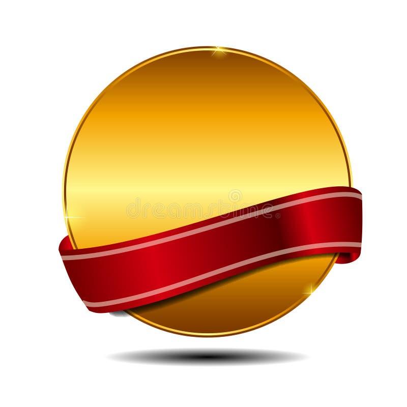 Vektorbester auserlesener Kennsatz mit rotem Farbband. stock abbildung