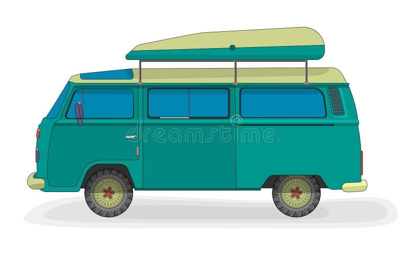 Vektorbil för turister royaltyfri illustrationer