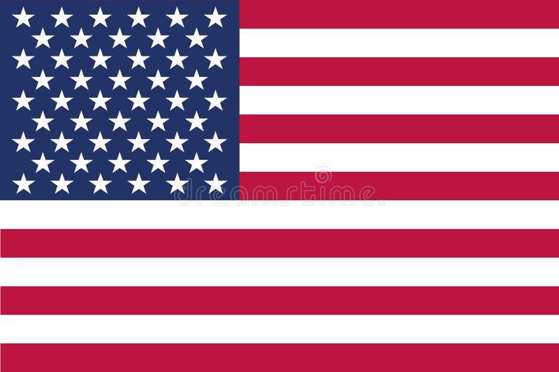 Vektorbild av amerikanska flaggan royaltyfri illustrationer