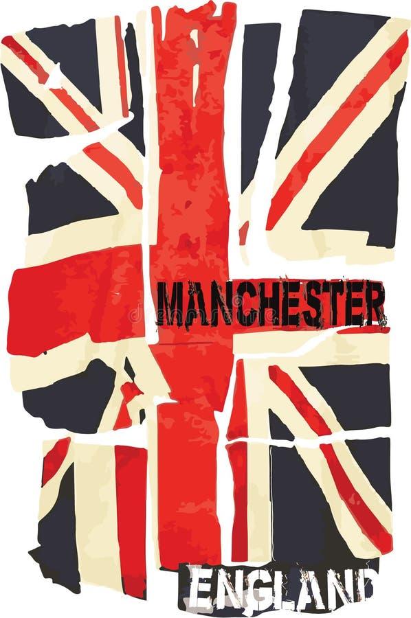 Vektorbild av den England flaggan vektor illustrationer