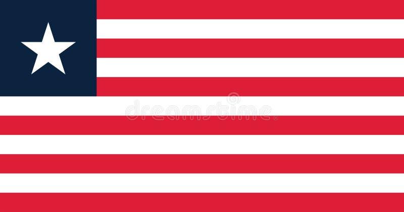 Vektorbild av den Liberia flaggan vektor illustrationer