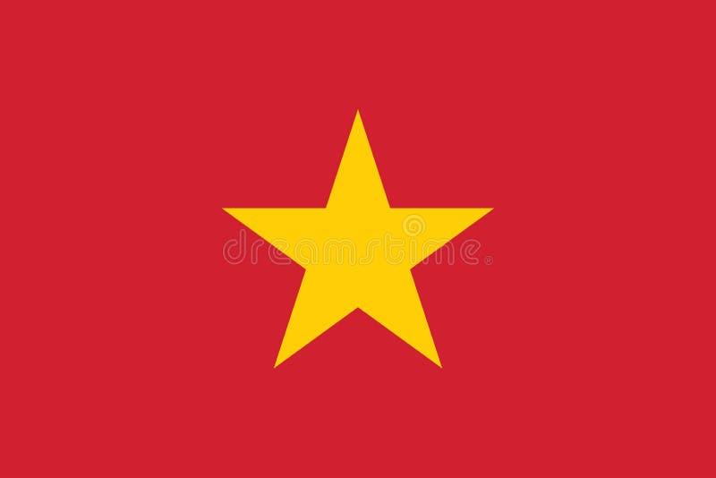 Vektorbild av den Vietnam flaggan stock illustrationer