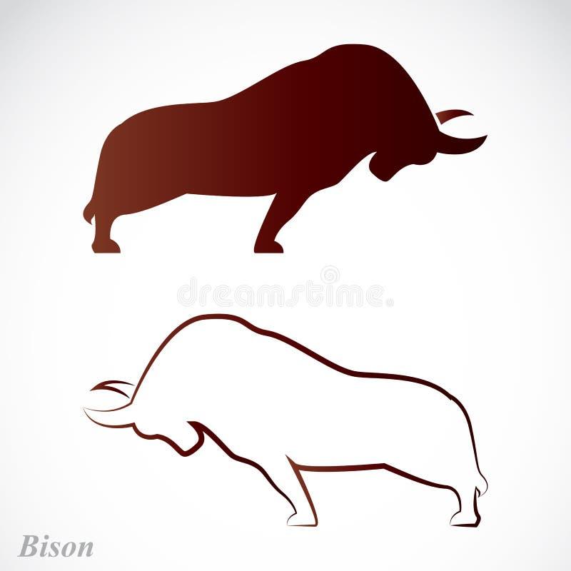 Vektorbild av en bison vektor illustrationer