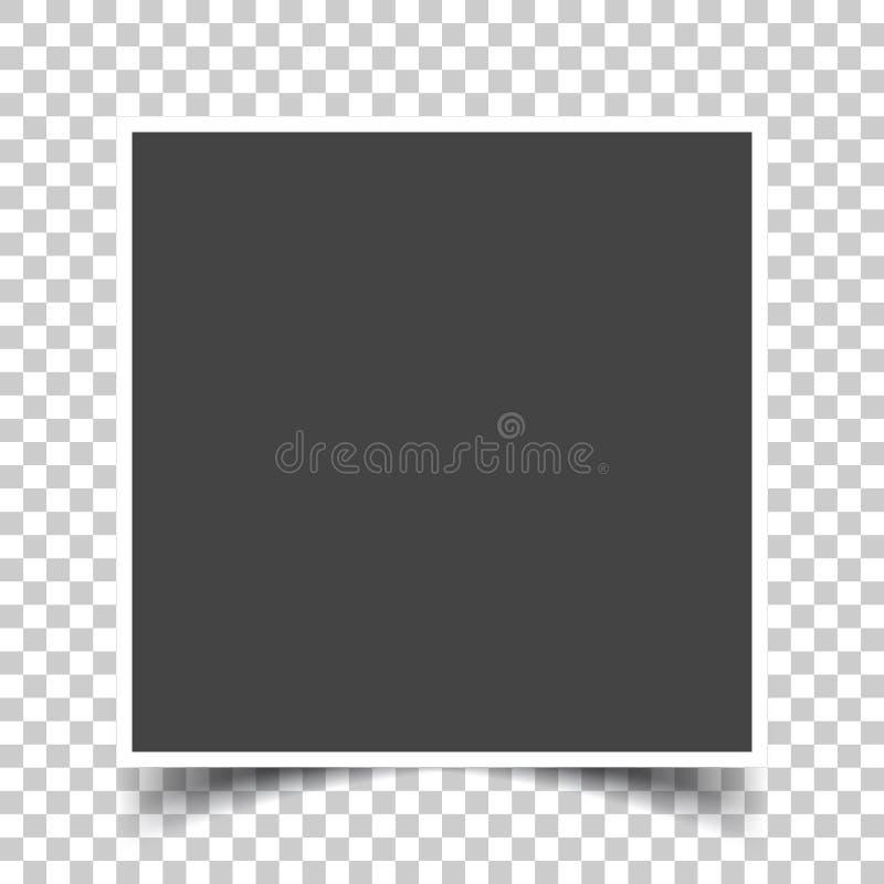Vektorbild av en fyrkantig ram för foto Symboler av en tom rea vektor illustrationer