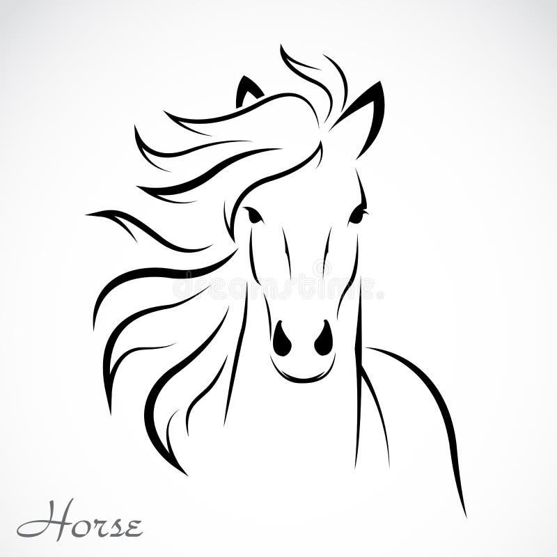 Vektorbild av en häst royaltyfri illustrationer