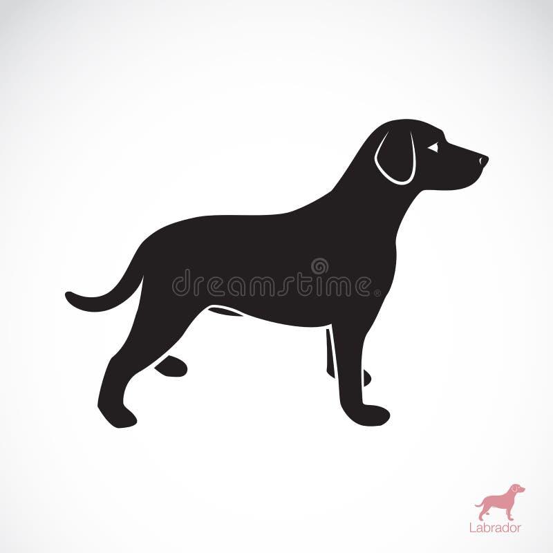 Vektorbild av en hund labrador vektor illustrationer