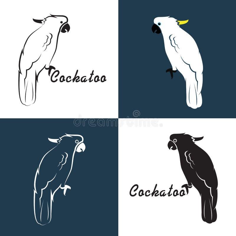 Vektorbild av en kakadua vektor illustrationer