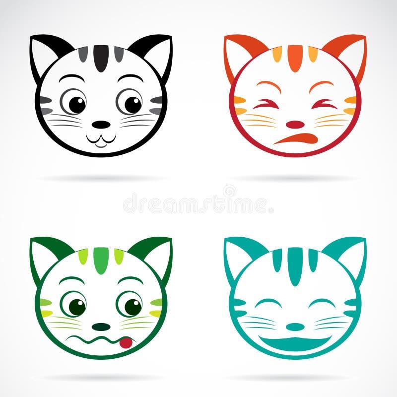 Vektorbild av en kattframsida stock illustrationer