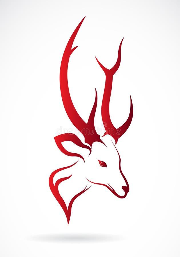 Vektorbild av ett hjorthuvud royaltyfri illustrationer