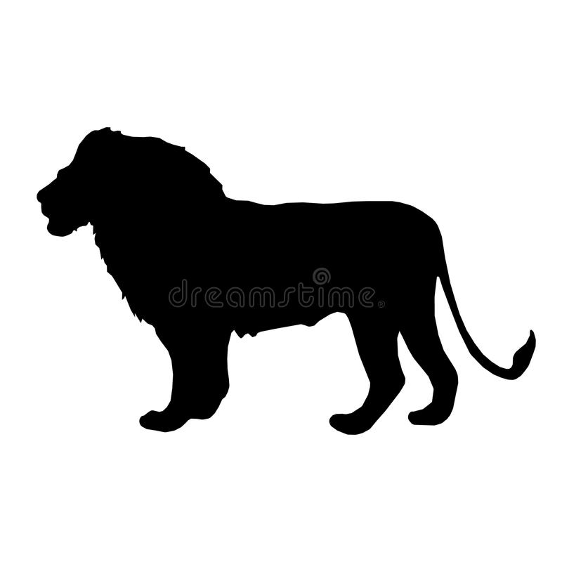 Vektorbild av ett lejon stock illustrationer