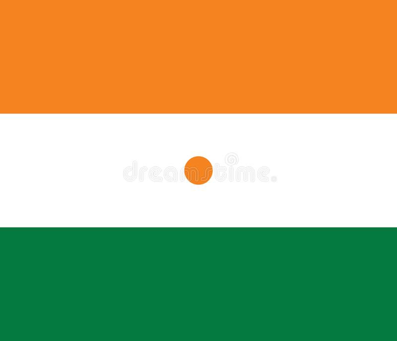 Vektorbild av Niger Flag royaltyfri illustrationer