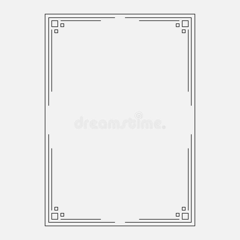 Vektorbild, dekorativ dekorativ ram royaltyfri illustrationer