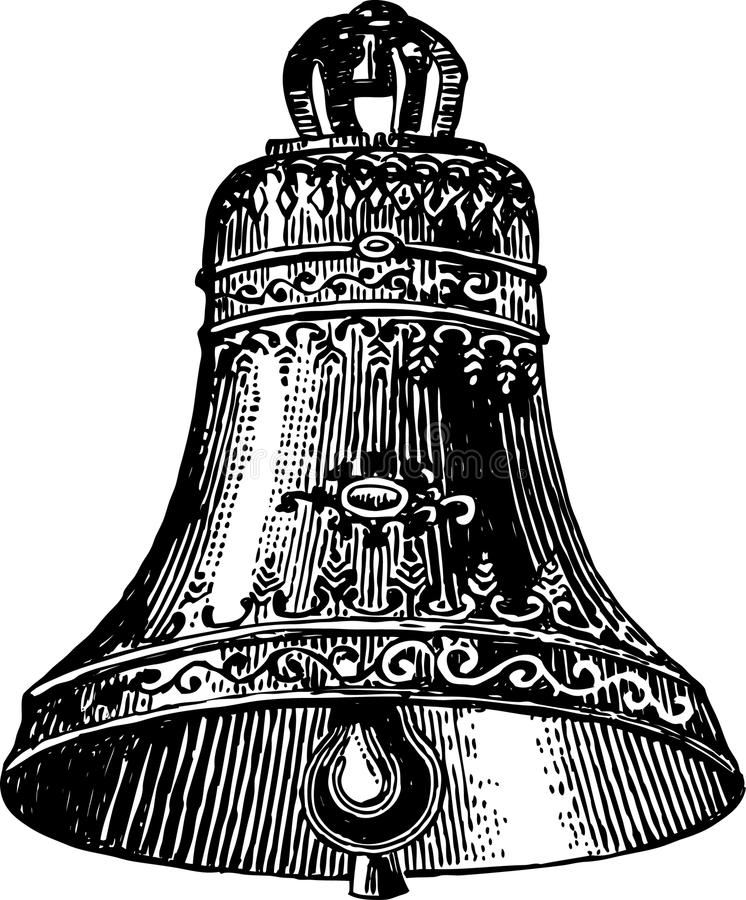 Alte Glocke stock abbildung