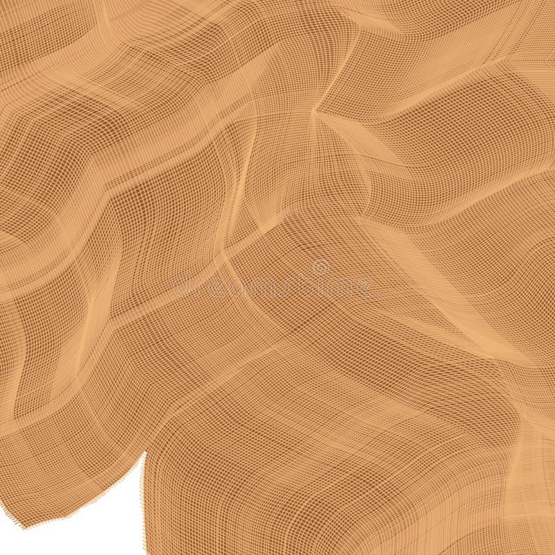 Vektorbild der Tischdecke vom natürlichen nicht gefärbten Leinen lizenzfreie abbildung
