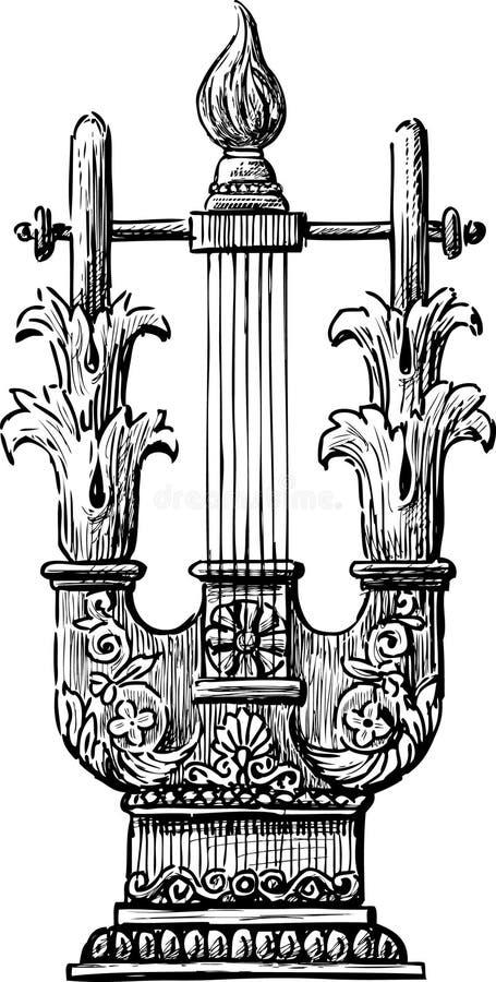 Antiker Lyre lizenzfreie abbildung