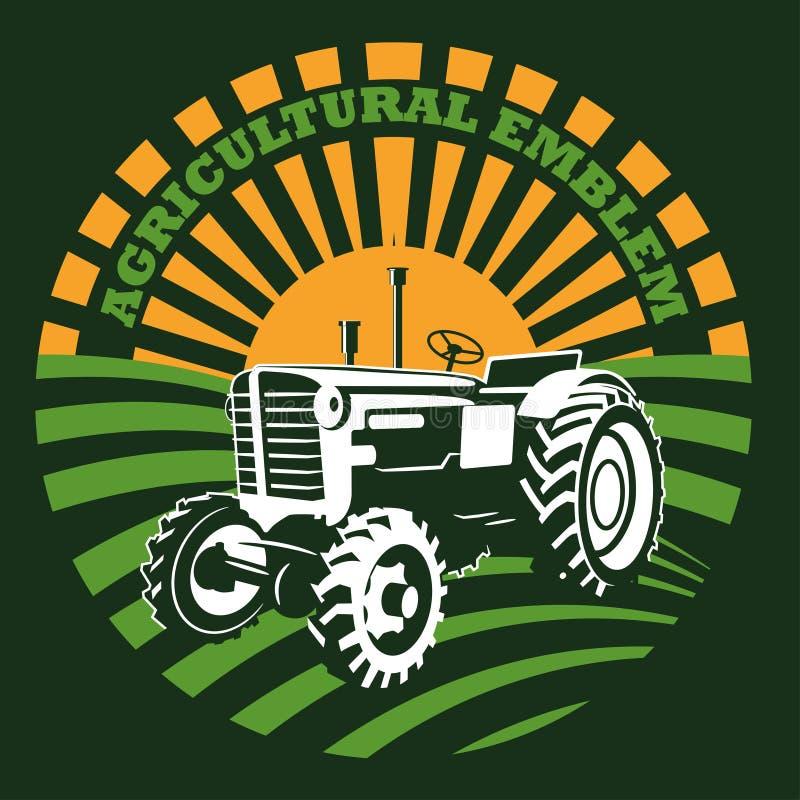 Vektorbild des Traktors Logoillustration stock abbildung